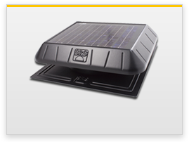 flat base solar attic fan