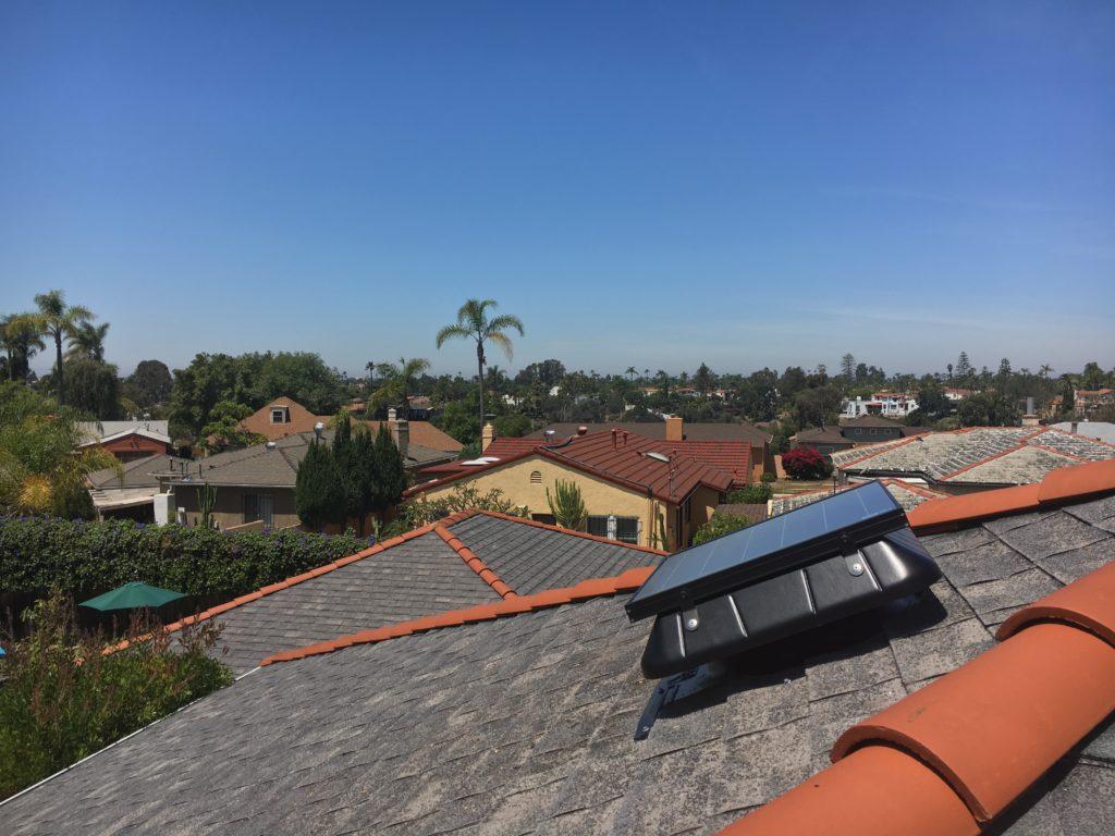 solar fan sunrise solar installed