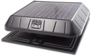 solar power flat base fan