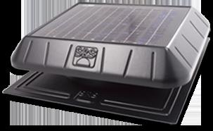 solar power flat base fan