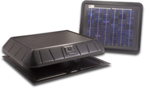 solar power remote panel fan