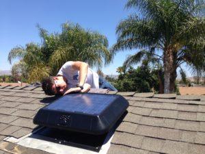 sunrise solar fan installing