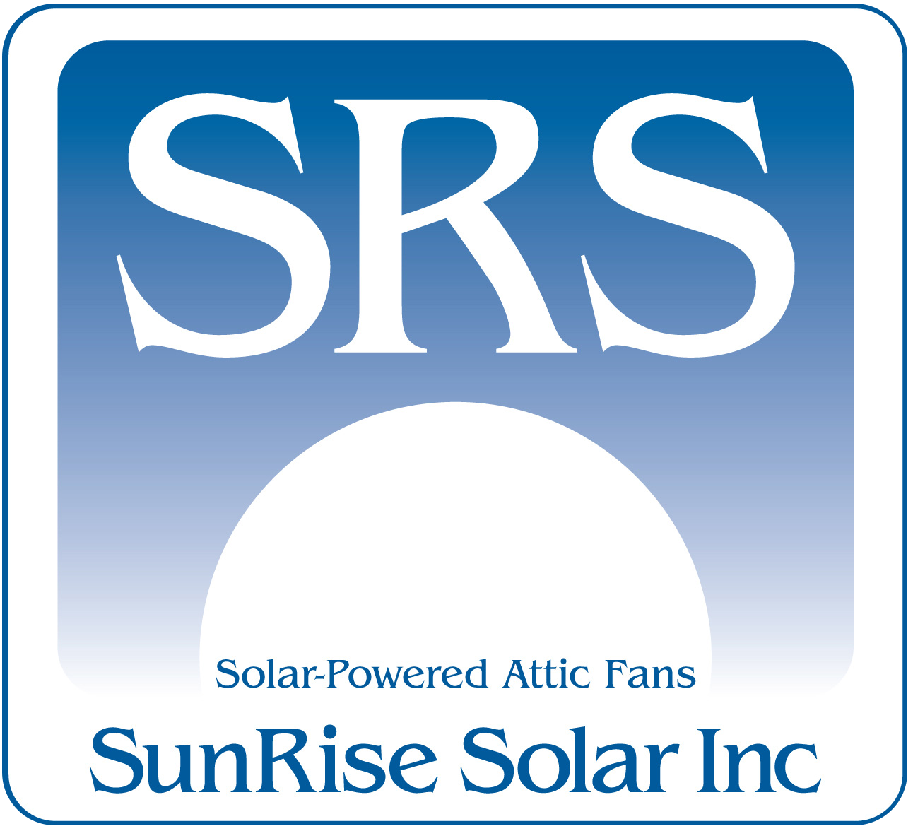 sunrise solar attic fans logo