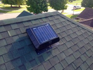 One of our Solar Attic Fans installed on a client's roof