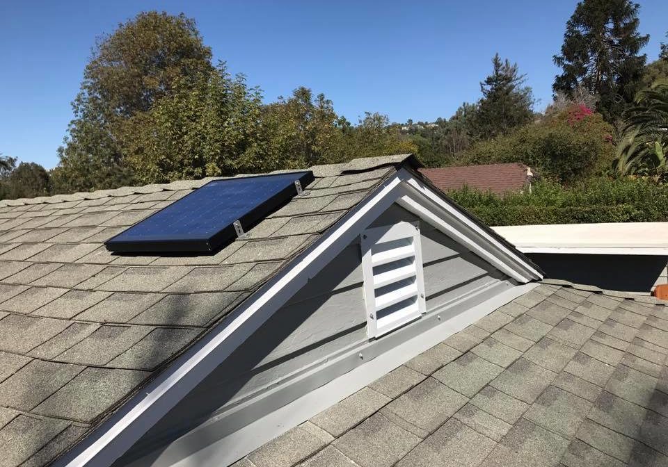 gable mount solar attic fan