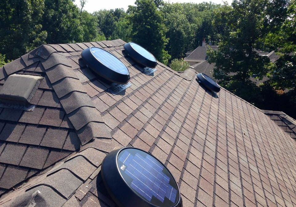 norml pitch solar attic fan roofs